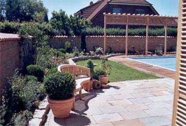 mediterraner garten mit pool – flashzoom, Garten ideen gestaltung